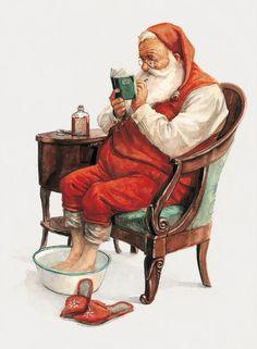 SIGNED Fine Art Print CHRISTMAS Checking by StudioJBMongeGoblin