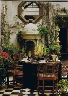 Divine outdoor dining space