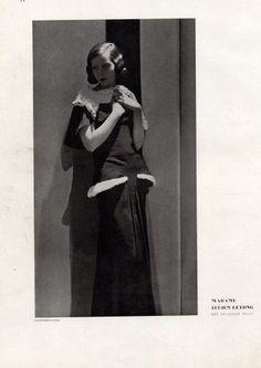 George Hoyningen-Huene, Mrs Lucien lelong wearing Lucien lelong, 1930's