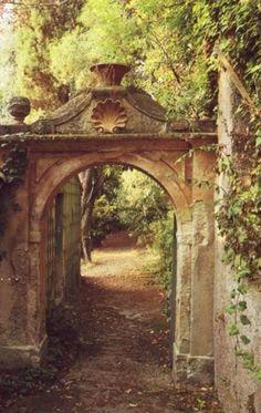 . garden path....