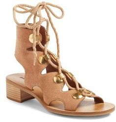 Love these laced up sandals.