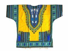 African Shirt Dress men women Dashiki print Hippie Style Caftan Unisex Tribla - Auction start from  $0.19