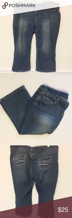"""Maurices Capris size 24 Maurices light wash capri jeans size 24  In great shape  Approximate Measurements  Waist 21 1/2"""" Inseam 21""""  81% Cotton 18% Polyester  1% Spandex  #1003 Maurices Jeans Ankle & Cropped"""