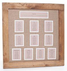 Medium Oak framed Wedding Seating Plan