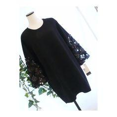 メルカリ商品: 【新品】0485【L】スパンコール使ボリューム袖 上質チュニック黒 #メルカリ