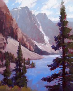 "David Mensing Fine Art ""Replete"" Sweeping depth in The high country. Pastel Landscape, Landscape Paintings, Acrylic Paintings, Landscapes, Character Illustration, Illustration Art, Abstract Art, Fine Art, Artwork"