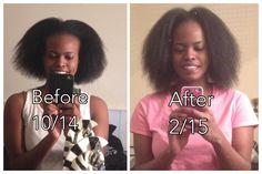 Un avant après du Hair Skin Nails