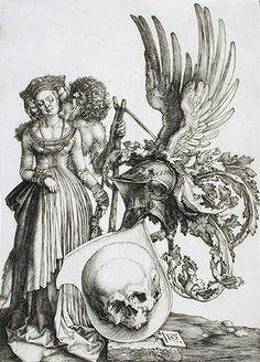 Escudo de armas con calavera (1503). Alberto Durero
