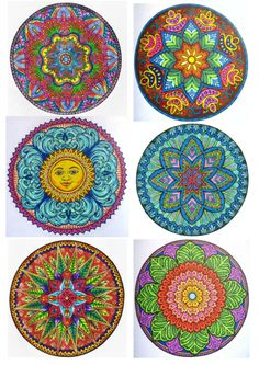 Mandalas copied from the net. Mandala Drawing, Mandala Art, Cool Tapestries, Moroccan Art, Bottle Cap Art, Alphabet Art, Mandala Coloring, Ancient Art, Diwali
