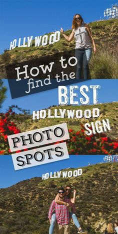 Best Hollywood Sign Photo Spots - Bobo and ChiChi Travel Destinations San Diego, San Francisco, Santa Monica, Hollywood Sign Hike, Hollywood California, Hollywood Photo, Hollywood Icons, California Camping, California Vacation