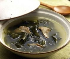 Mi-yeok-guk. Seaweed Soup. I haven't made this on my own yet.