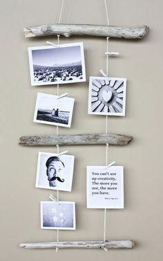 break 4 D E S I G N: Ideas para colgar fotos y láminas sin enmarcar