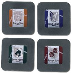 Attack on Titan Coasters - Set 1 (Scouting, Garrison, Military, 104th Cadet) @Archonia_US