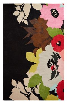kate spade new york 'gramercy - floral & leaves' hand tufted wool blend rug available at #Nordstrom