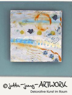 Acrylbilder Meer Aquafarben 3 Stück Mare von DecorativeDesignArt