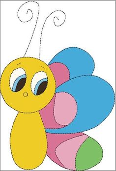 Applique Quilt Patterns | Childrens Quilt Applique Pattern/Template, Bug in PDF format ...