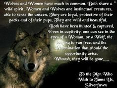 To the men who wish to tame us silverfawn