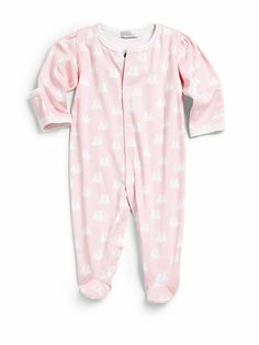 Double down with Kissy Kissy's Girls' Twin Bunnies Baby Footie — perfect for twins