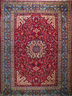 "Buy Esfahan Persian Rug 13' 3"" x  19' 0"", Authentic Esfahan Handmade Rug"