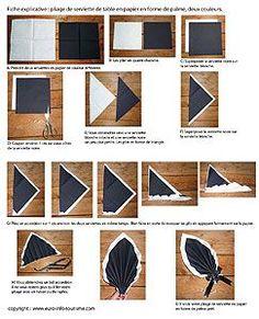 Pliage de serviette de table en forme de feuille de palmier, plier une serviette en papier feuille de palmier, l'art du pliage de serviettes de table, decoration de table, recettes de cuisine et traditions en Europe. Information et Tourisme Européen.