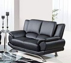 Shop Black Metal Leather Cushion Back Loveseat with great price, The Classy Home Furniture has the best selection of to choose from Leather Loveseat, Black Metal, Home Furniture, Loveseats, Cushions, Couch, Home Decor, Throw Pillows, Toss Pillows