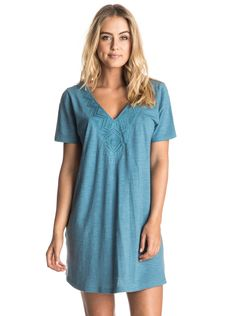 roxy, Dust In The Wind - T-Shirt Dress, HIBISCUS (rmz0)