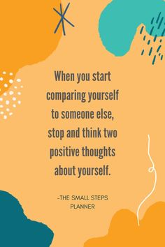 How would your mindset change if you started speaking two positive thoughts about yourself every time you started to compare yourself to others? #selflove #momstruggles #positivequotes