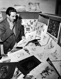 """With """"Bambi,"""" released in 1942, Walt Disney was striving to push the limits of realistic animation, but some critics at the time denounced the realism as coming at the expense of magic and fantasy element. Credit: Courtesy of the Walt Disney Archives Photo Library ©Disney"""