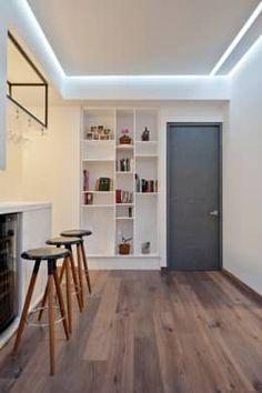 modern Corridor, hallway & stairs by HO arquitectura de interiores