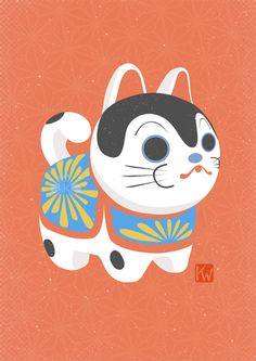 Japanese clay dog Prints + t-shirts available!