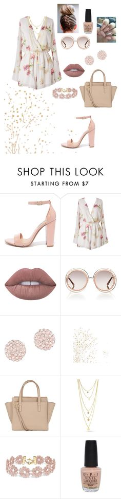 """Untitled #21"" by anea8 ❤ liked on Polyvore featuring Steve Madden, Lime Crime, Chloé, Swarovski, Salvatore Ferragamo, BaubleBar and OPI"