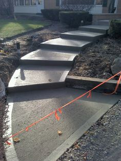 Cement sidewalk i did for a priest,he wanted something different.I gave him this