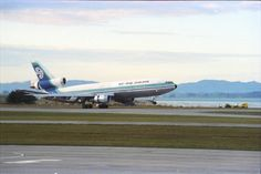 We flew from Brisbane to Auckland (return) in the 70s in an Air New Zealand McDonnell Douglas DC10.