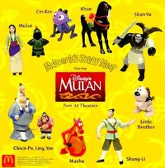 McDonald/'s MC DONALD/'S HAPPY MEAL 1998 DISNEY Mulan Pezzi singoli