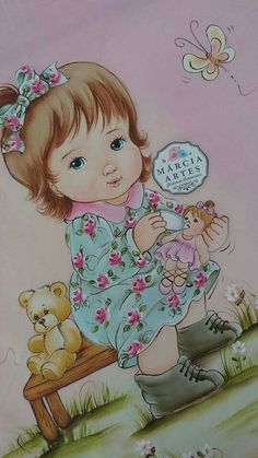 tem risco Cute Baby Dolls, Cute Babies, Diwali Craft, Baby Drawing, Baby Prints, S Pic, Fabric Painting, My Drawings, Projects To Try