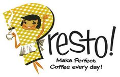 Presto! Coffee maker ad from 1960.