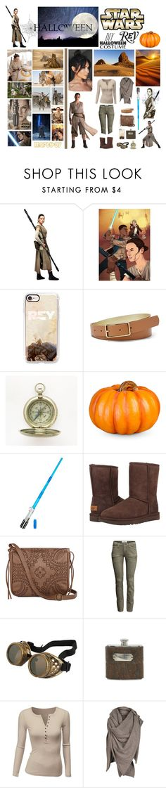 Halloween Party: Rey!! by marty-97 on Polyvore featuring moda, Doublju, H&M, T-shirt & Jeans, AllSaints, FOSSIL, Casetify, Improvements, Jayson Home and UGG Australia