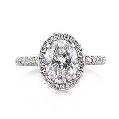 2.56ct Oval Cut Diamond Engagement Ring