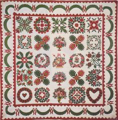 Baltimore Album Quilt, 1850. Baltimore, Maryland.