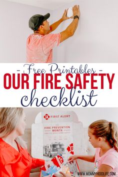 This printable Fire Safety Checklist can prepare your family for an emergency and help prevent tragedy. Our Safety Plan and grab the First Alert Checklist. Safety Checklist, Safety Tips, Family Safety, Child Safety, Fire Prevention Month, Kids Room Organization, Parenting Advice, Mom Advice, Child Development