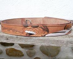 Hand gefertigter Ledergürtel mit Ray Charles Motiv Ray Charles, Cuff Bracelets, Belt, Accessories, Jewelry, Fashion, Belts, Moda, Jewlery