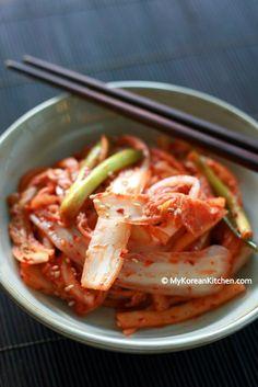 Fresh Napa Cabbage Kimchi Salad | MyKoreanKitchen.com