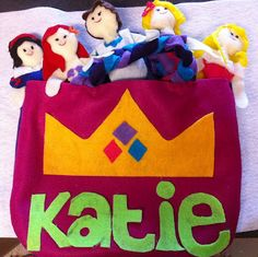 Toddler Princess Dolls and carry bag made for the car trip to our Disney Vacation! Felt Projects, Sewing Projects, Doll Crafts, Crafts For Kids, Toddler Travel Activities, Quiet Book Patterns, I Love My Daughter, Carry Bag, Quiet Books