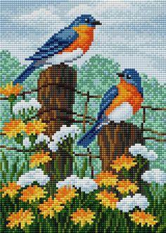 Tiny Cross Stitch, Cross Stitch Pillow, Cross Stitch Animals, Cross Stitch Flowers, Wedding Cross Stitch Patterns, Modern Cross Stitch Patterns, Cross Stitch Designs, Cross Stitching, Cross Stitch Embroidery