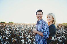 kristi + aaron, tuscaloosa alabama engagement session #cotton #fieldengagement