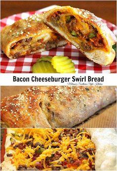 Bacon Cheeseburger Swirl Bread