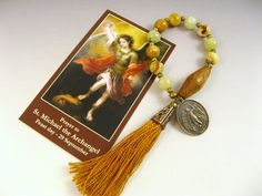 St. Michael Catholic Rosary Tenner Single Decade by RachelRode