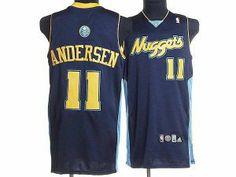 NBA Denver Nuggets #11 Chris Andersen Dark Blue Jersey