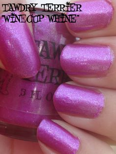"""@TawdryTerrier """"Winecup Whine"""" in the shade - only 1 bottle available at https://www.etsy.com/shop/TawdryTerrier #nailpolish #indienailpolish #winecup #tawdryterrier"""