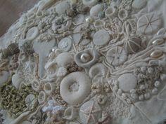 White Sea Shore Encrusted Embroidery